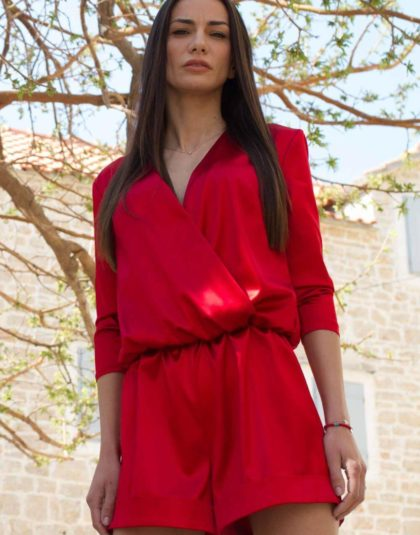 Mandre Red jumpsuit - 02