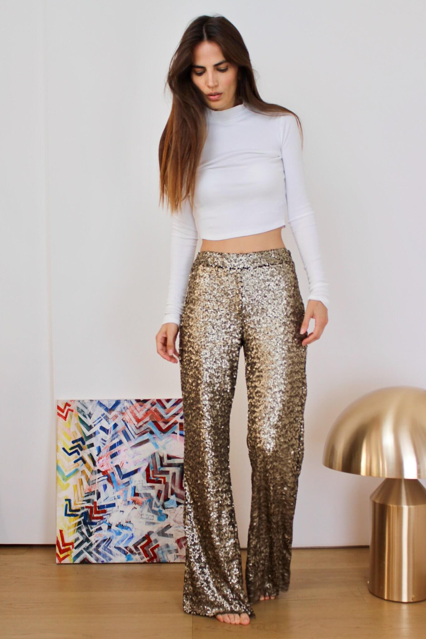 Faith Gold Pants